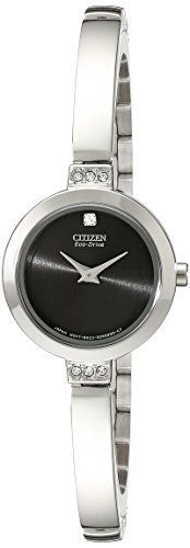 Citizen Eco-Drive Women's EW9920-50E Stainless Steel Swarovski Crystal-Accented - Drive Bracelet Ladies Eco Bangle