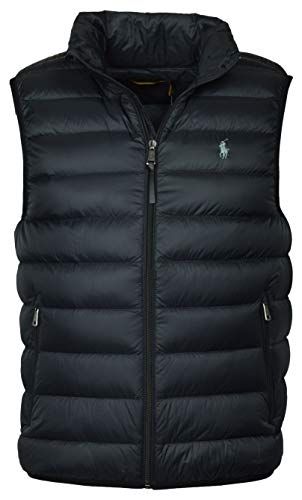 Polo Ralph Lauren Mens Full Zip Puffer Vest (Small, Polo Black)