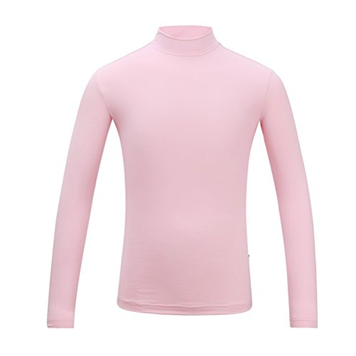 Kayiyasu インナーシャツ キッズ ゴルフウェア ジュニア ゴルフシャツ 女の子 UVカット 薄手 夏物用 薄物 長袖 下着 日焼け止め 021-xsty-yf-137(L(140cm) ピンク)
