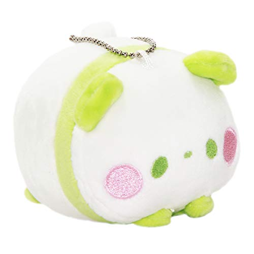 Super Soft Mochii Panda Plush Japanese Squishy Plushie Toy Kawaii Bear Green White -