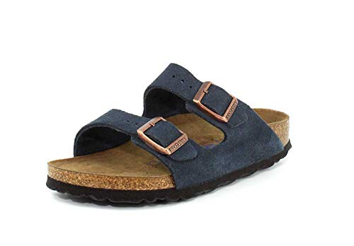 Birkenstock Womens Arizona Soft Footbed Slide Sandal, Dark Navy, Size 40 EU (9-9.5 M US Women)