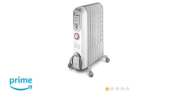 DeLonghi Vento V550920T 2000W Radiador - Calefactor (Radiador, Piso, 2000 W, 900 W, 60 m³, 640 mm): Amazon.es: Hogar