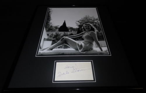 Gale Storm Signed Framed 16x20 Swimsuit Poster Photo Display
