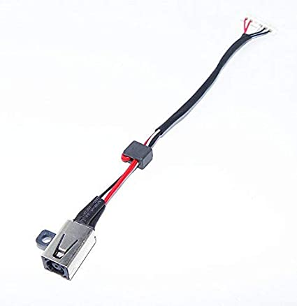DC Power Jack In Cable Harness for DELL Inspiron 17 5000 5755 DC30100TT00 Socket
