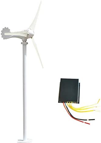SYN-GUGAI 500W / 600W / 700W / 800W Windturbine Hybrid Windgenerator DC-12V / 24V Hybrid-Controller Wind Turbine Generator Hybrid-Laderegler Home Strom, wasserdichte Laderegler,600W12V-5 Leaves