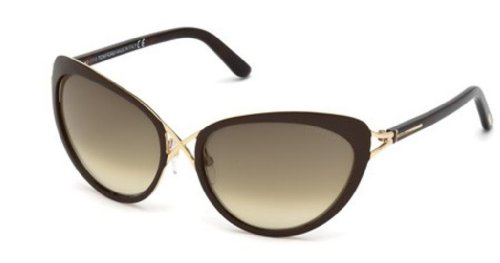 Tom Ford Ft0321 Daria 28F - Shine Rose Gold/Gradient Brown Sunglasses