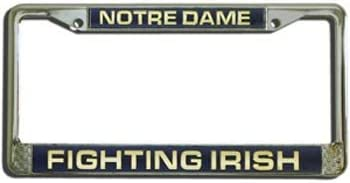 Quantity of 1 Notre Dame Fighting Irish Laser Etched License Plate Frame
