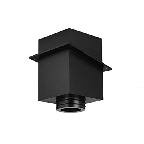 Cathedral Box - Copperfield 70653 6 Inch Dura-Vent Duratech Cathedral Ceiling Support Black, 11 Inch Tall