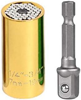 Hoomall Universalschl/üssel Steckschl/üssel Universal Nuss Multi Funktions Reparatur Werkzeuge 7-19mm mit Adapterr 1 St/ück