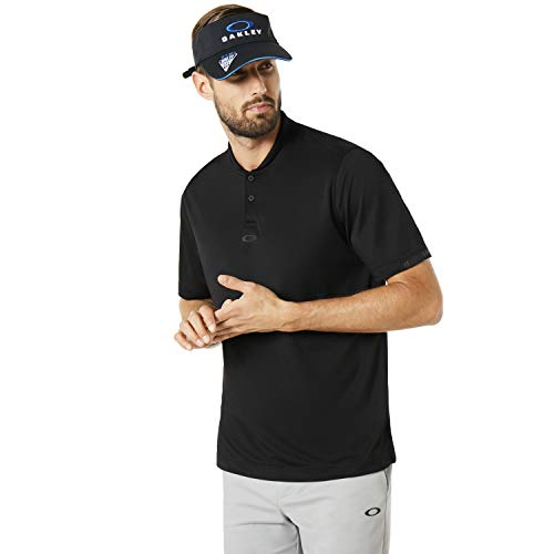 Oakley Men's Bomber Collar Shirts,Large,Blackout