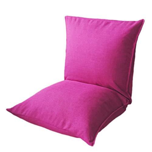 怠惰なソファ畳シングルドミトリーベッドコンピュータチェア折りたたみシンプルチェアソファチェア B07SY6YD1L Pink