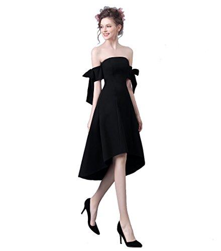 乙女故障毎週ブラック ファッションドレス 二次会ドレス 一字肩 ミニドレス カクテルドレス お呼ばれドレス 女子会 海外挙式ワ ンピース リゾート婚 旅行 撮影 お食事会 パーティードレス ファスナータイプ