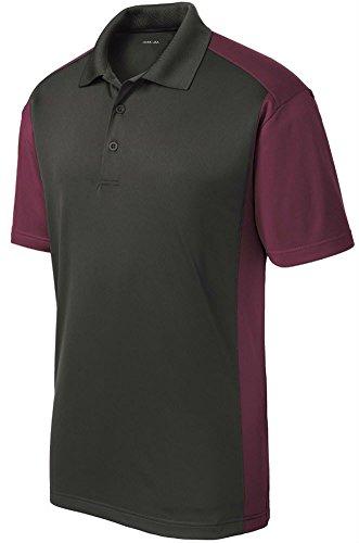 Joe's USA Mens Moisture Wicking Micropique Golf Polo Shirt-Maroon-4XL