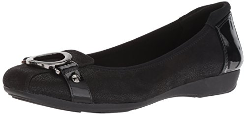 Anne Klein AK Sport Women's Umeko Ballet Flat, Black/Multi Fabric, 6 M US