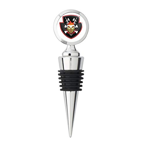 Creepy Vampire Bat Assassin Halloween Icon #7 Steel Bottle Stopper Winestopper ()