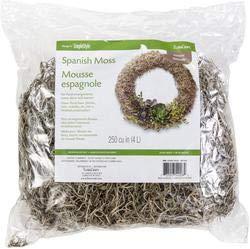 Floracraft Bulk Buy Spanish Moss 8 Ounces Natural SM8 (6-Pack)