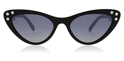 - Miu Miu Women's Crystals Cat Eye Sunglasses, Black/Blue Mirror, One Size