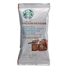 (Starbucks Coffee, Pike Place Decaf, 2 1/2 oz Packet, 18/Box)