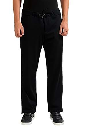 Versace Collection Men's Stretch Black Casual Pants US 38 IT 54