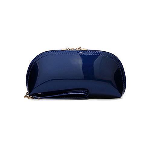 (Travel Wristlet Multifunction Casual Cosmetic Bag Purse Handbag Coin Purse (color - Dark blue))