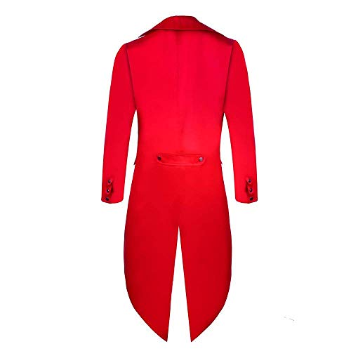 Victoriana Cómodo Coat Gothic Tuxedo Uniform Steampunk Jacket Long Chaqueta De Vintage Chaqueta Rot Battercake Punto Cosplay w7qf6vIpn