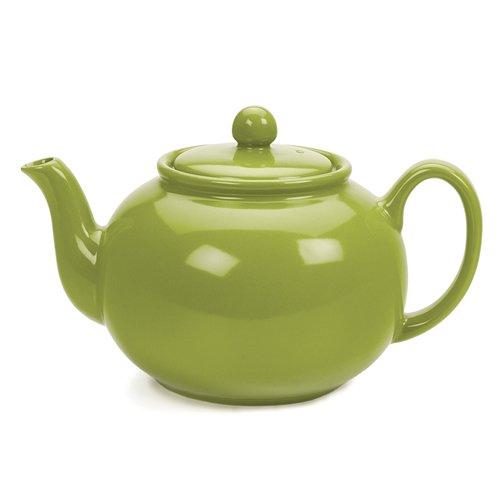 RSVP Green 6 cup Stoneware Chai Teapot