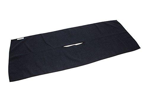 "Center Cut Microfiber Golf Towel 16""x40"" (Black)"