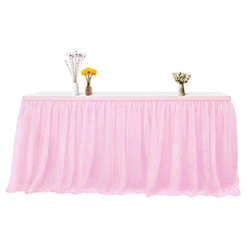 Tulle Pink Table Skirt