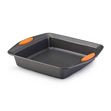 Rachael Ray Oven Lovin' Non-Stick 9  Square Cake Pan, Orange