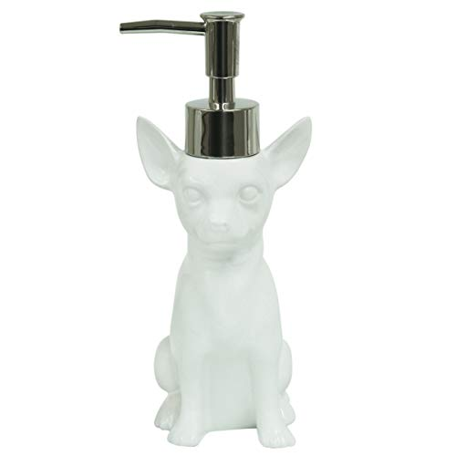 Bacova Guild Chihuahua Lotion Dispenser, White ()