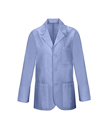 Panda Uniform Custom Consultant Lab Coat For Men's 32-Inch length-Sky Blue-XL by Panda Uniform (Image #2)