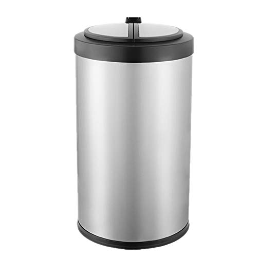 JenLn Container met recycling 9L 12L roestvrij staal Intelligent Induction Trash Can Woonkamer Slaapkamer Keuken…
