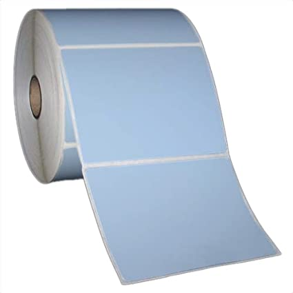 amazon com 4x3 inch direct thermal paper labels blue rolls 5