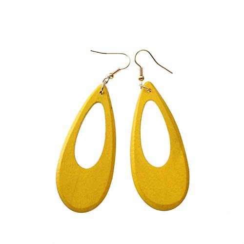 2019 New Popular China Natural Wood 4 Color Drop Art Pendant Earrings Simple Jewelry Accessories for -
