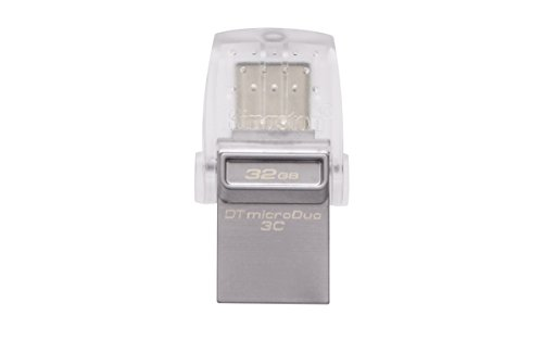 Kingston Digital 32GB Data Traveler Micro Duo USB 3C Flash Drive (DTDUO3C/32GB) by Kingston