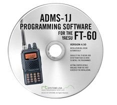 Yaesu ADMS-1J Programming Software on CD with USB Computer Interface Cable for FT-60R by RT Systems