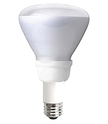 "TCP 2R301622541K CFL Covered R30 - 75 Watt Equivalent (only 16w used!) Cool White (4100K) Flood Light Bulb - extended 2.25"" neck - Wet Location Rated"