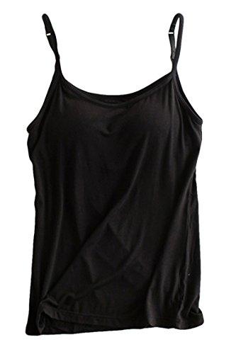 abafa2b457d12 PinkWind Women s Bra Padded Cami Tank Adjustable Camisole Basic ...