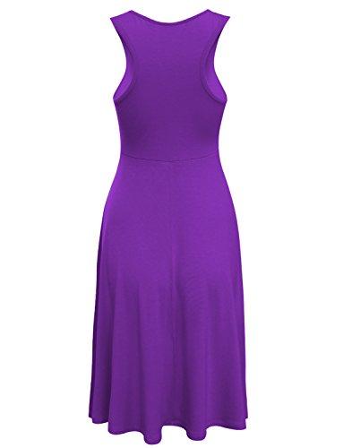 Tam Articles Sur Des Femmes De Traction Élégante Robe Patineuse Sans Manches Violet