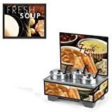 Vollrath 720201102 Full-Size Soup Merchandiser Base Tuscan Menu