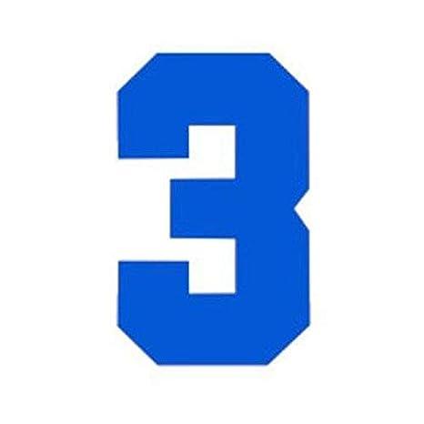 RECHERE N/úmeros Iron-on Transferencia de Calor para f/útbol b/éisbol Jersey Deportes Camiseta Collegiate Fuente Blanco