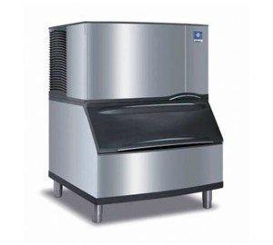 Manitowoc IY-0304A_B-400 310 Lb Air-Cooled Half Cube Ice Machine w/ Storage - Ice Lb 310 Machine