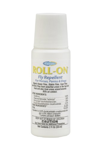 Farnam Roll-On Fly Repellent for Horses, Ponies and Dogs, 2-Ounce, My Pet Supplies