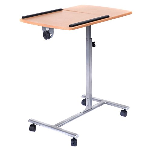 Adjustable Laptop Notebook Desk Table Stand Holder Swivel Home Office Wheels by MRT SUPPLY (Image #1)