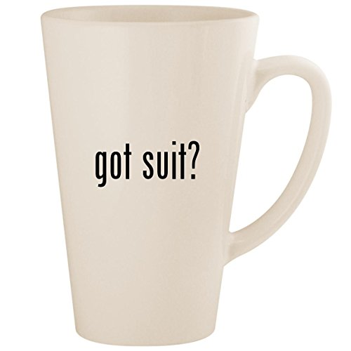 got suit? - White 17oz Ceramic Latte Mug Cup