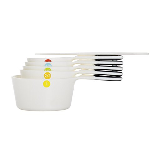 OXO 6 Piece Good Grips Plastic Measuring Cups, White