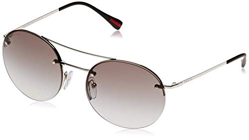 Prada Linea Rossa Unisex PS 54RS Sunglasses Silver/Grey Gradient - Prada Silver Sunglasses