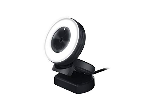 🥇 Razer Kiyo 1080p 30 FPS/720 p 60 FPS Streaming Webcam with Adjustable Brightness Ring Light