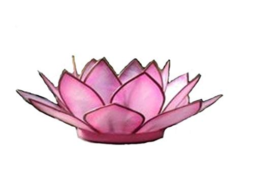 Om Gallery Natural Capiz Shell Pink Flamingo Tea Light Holder plus Free Candle