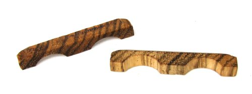 2 pc. Exotic Zebrawood Cigar Box Guitar Bridges